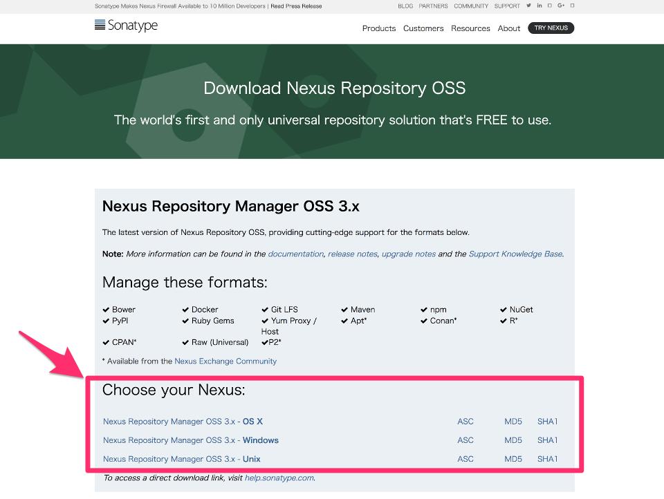 Sonatype Nexus を CentOS 7 にインストールする手順 | WEB ARCH LABO