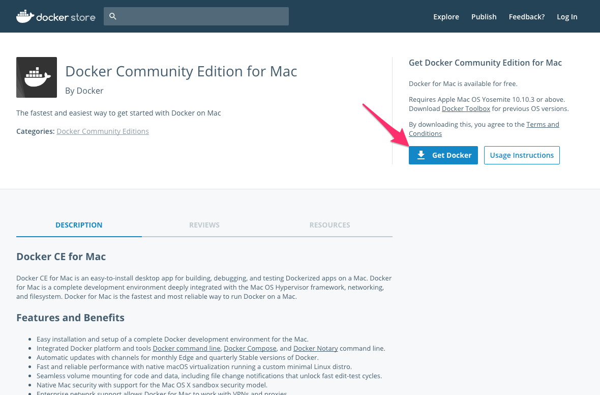 Docker Community Edition for Mac