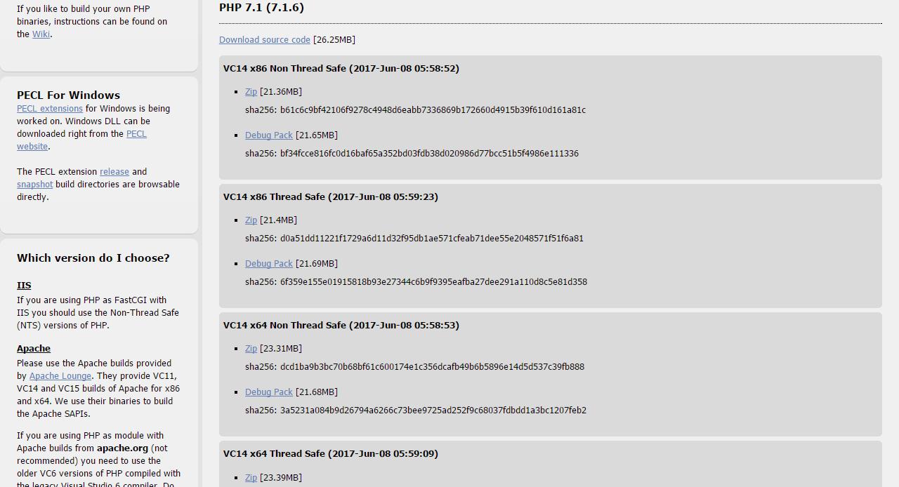 PHP7 1をWindowsにインストールする手順 | WEB ARCH LABO