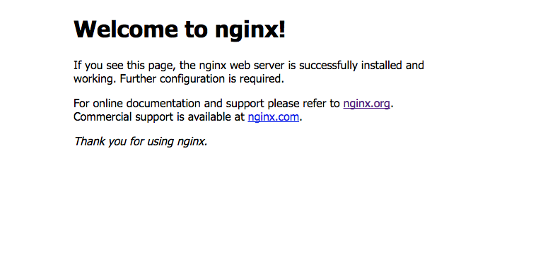 Welcome to nginx!