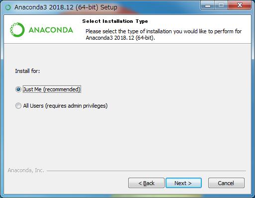 Anaconda を Windows にインストールする手順   WEB ARCH LABO